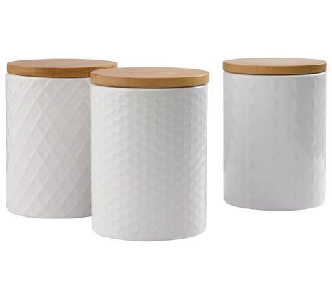 Buy Heart Of House Veda 3 Textured Storage Jars White At