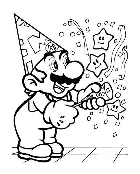 7 Super Mario Coloring Pages In 2020 Birthday Coloring Pages Super Mario Coloring Pages Mario Coloring Pages
