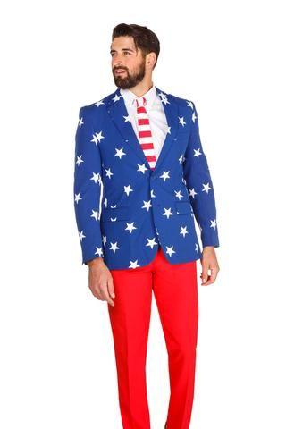 The Merican Gentleman American Flag Suit By Opposuits American Flag Clothes American Flag Dress American Flag Suit