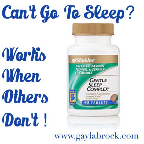 If You Have Trouble Going To Sleep Or Staying Asleep This Is For You Gentle Sleep Complex Combines A Unique Shaklee Comb Shaklee Go To Sleep Staying Asleep