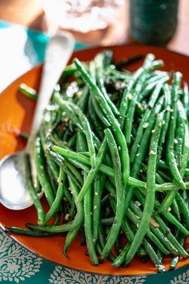 Simple Skillet Green Beans Receta Judía Verde Recetas De Vainitas Recetas De Frijoles Verdes