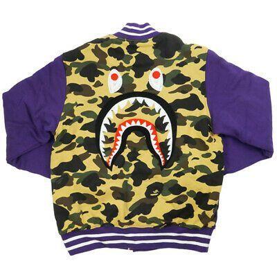 Men//Women Bape A Bathing Ape Shark Jaw Sports Jacket Sweats Baseball Coat