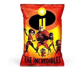 Party Favor Incredibles Party Favor Incredibles  Chip Bag
