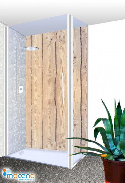 Bad Idee Rustikale Holz Als Wandverkleidung Fur Die Dusche Duschruckwand Holzoptik Dusche