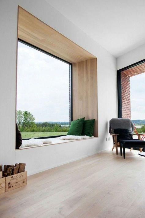 Wohnzimmer Wohnzimmer Fensterbank Sitzbank gemütlich ...