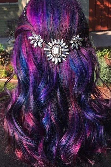 50 Fabulous Rainbow Hair Color Ideas | Hair and beauty ... #hairstyles #hairideas