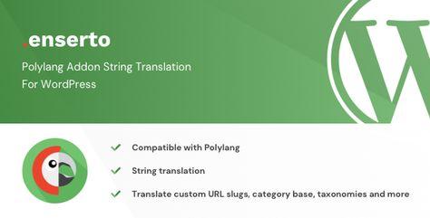 Enserto – Polylang Addon String Translation for WordPress | Codelib App