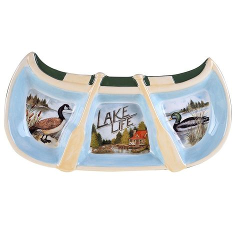 Multicolor Certified International Lake Life Pitcher