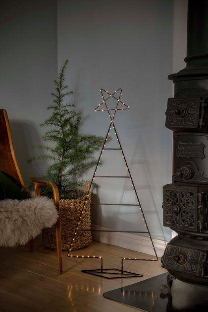Led Metallweihnachtsbaum Mit Draht Umwickelt Leiterdekor