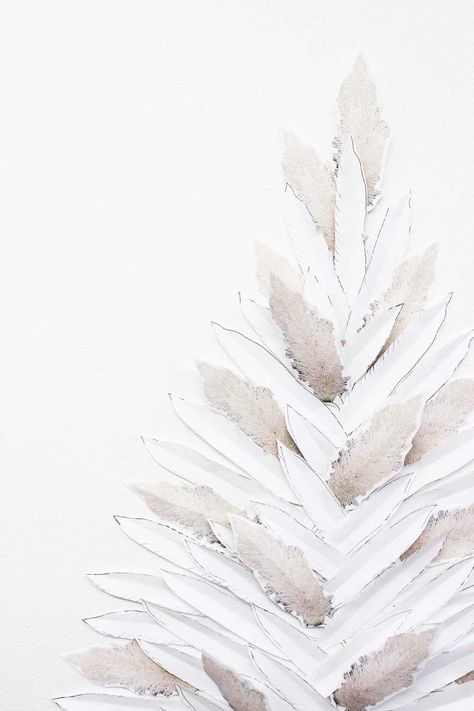 DIY Pampas Grass + Feather Faux Holiday Tree | Poppytalk