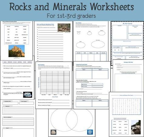 Rocks And Minerals Worksheets Science Worksheets Earth Science Lessons Study Unit Rocks and minerals worksheets for