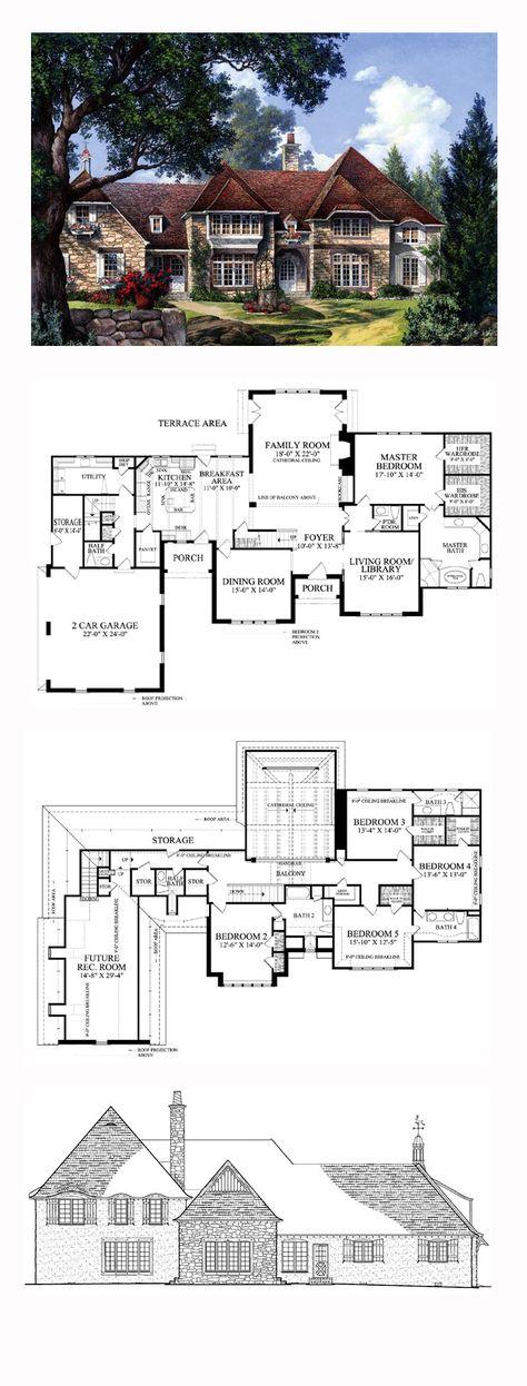 Georgian House Plan with 3951 Square Feet