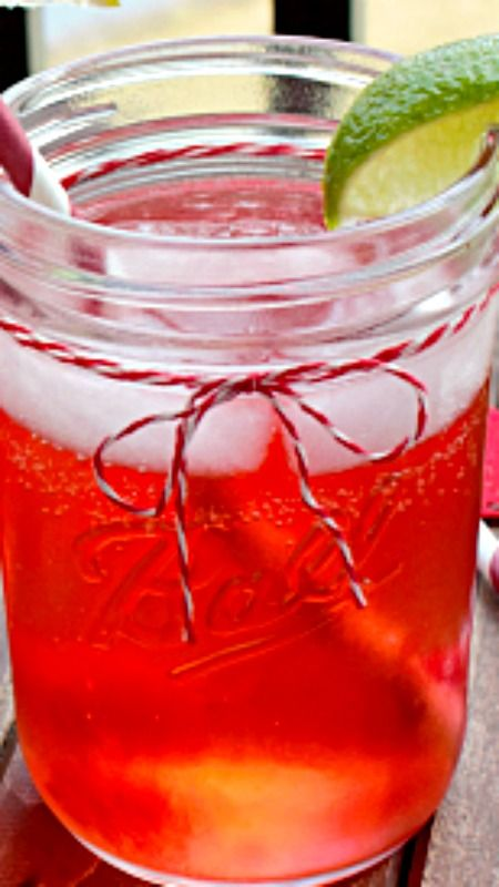 Cherry Limeade Cocktail ~ the classic drink with a kick!