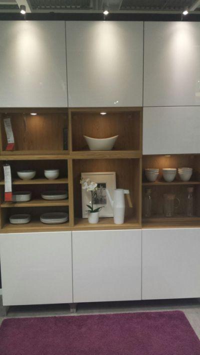 Grand meuble TV et Rangement Blanc Besta IKEA Ameublement Yvelines