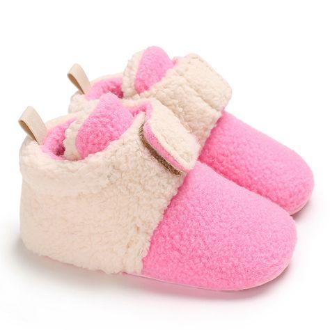 UK Infant Baby Boy Girls Winter Boots Toddler Prewalker Warm Casual Shoes f8
