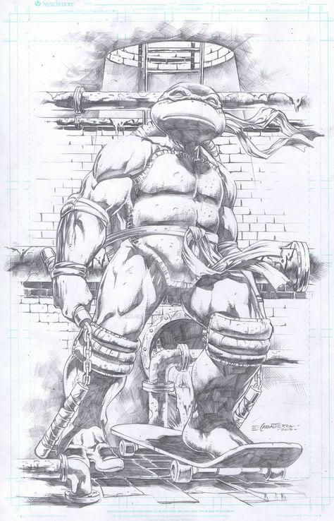 Michelangelo by Emil Cabaltierra | supereroi | Pinterest | Tortugas ...