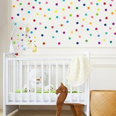 Stoff Wand Abziehbilder 121 Mini Regenbogen Punkten Konfetti Polka