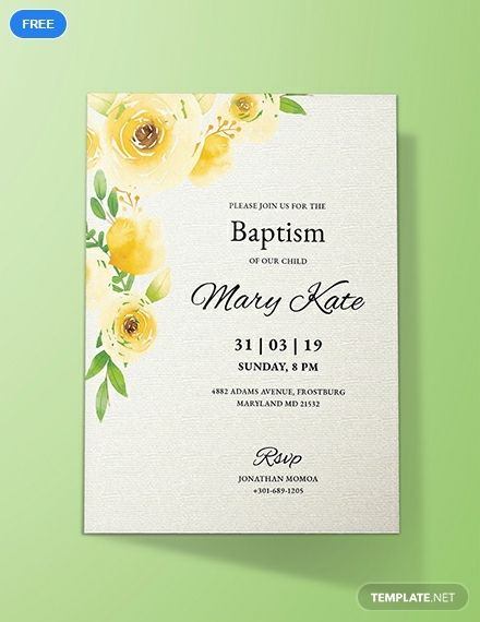 Baptism Invitation Card Template Free Jpg Illustrator Word Apple Pages Psd Publisher Template Net Invitation Template Christening Invitations Free Invitation Templates