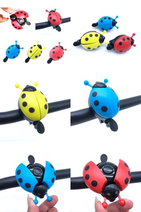 Lovely Kid Beetle Ladybug Ring Bell For Cycling Bicycle Bike Ride Alarm ND