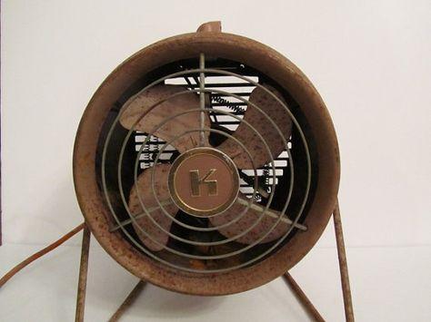 Vintage Kenmore heater fan heater metal fan by KarensChicNShabby