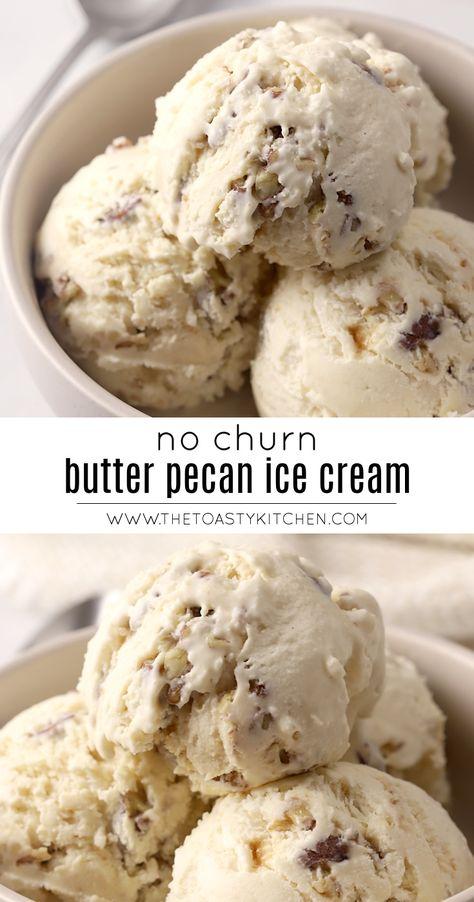 No Churn Butter Pecan Ice Cream