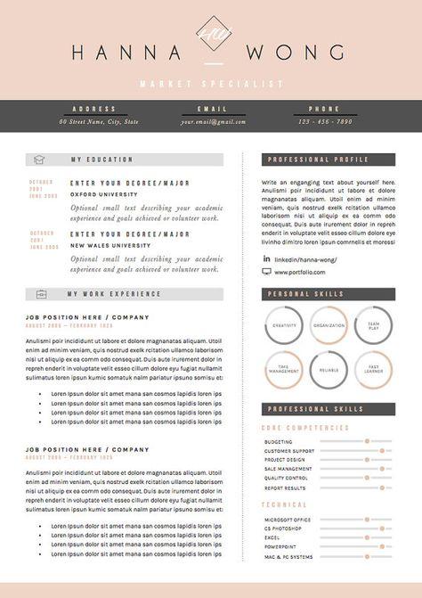 Resume Template Cv Template Cover Letter References For Etsy Modele Cv Cv Lettre De Motivation Lettre De Motivation