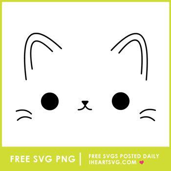 Cute Cat Face Free Svg Free Svg Cute Cat Face Svg