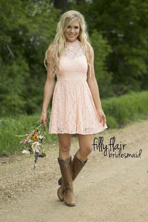 Simple country style wedding dresses with boots trends (80) | home ...