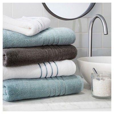 Reserve Solid Bath Towel Gray Fieldcrest With Images Spa