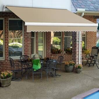 Olympia Plastic Standard Patio Awning In 2020 Patio Patio Awning Backyard Pergola