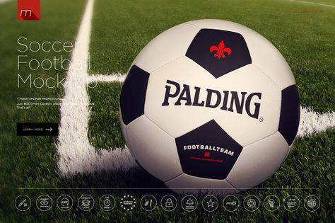 Football Soccer Ball Mock-up by Mesmeriseme on Creative Market - football powerpoint template