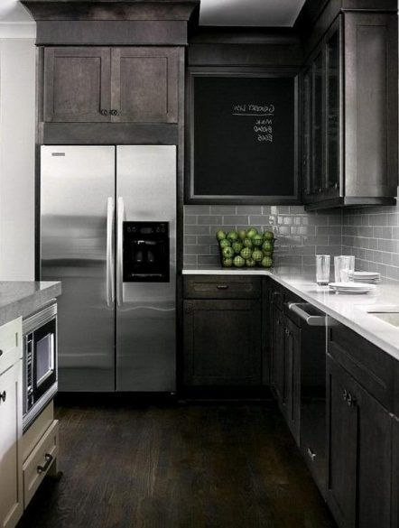 Kitchen Kitchen Black Cabinets White Countertops Light Oak Cabinet Dark Grey And Kitchen Cabinet Design Backsplash With Dark Cabinets Kitchen Design