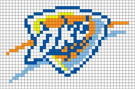 Oklahoma City Thunder Pixel Art Point De Croix
