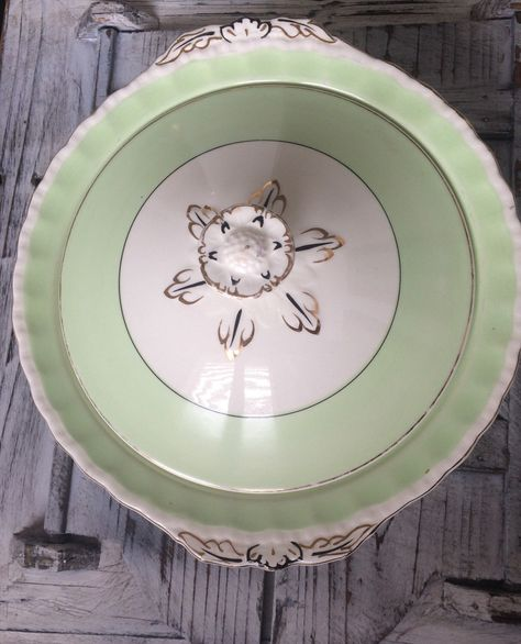 A personal favourite from my Etsy shop https://www.etsy.com/uk/listing/292720549/grindley-england-cream-petal-mint-green