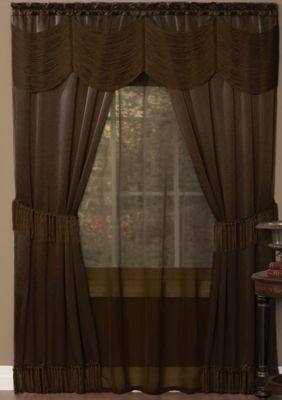 Halley 6 Piece Window Curtain Set In 2020 Curtain Sets Window