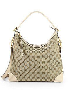 40a6189b3e0a Gucci - Miss GG Original GG Canvas Hobo Bag | Hot Handbags | Gucci ...