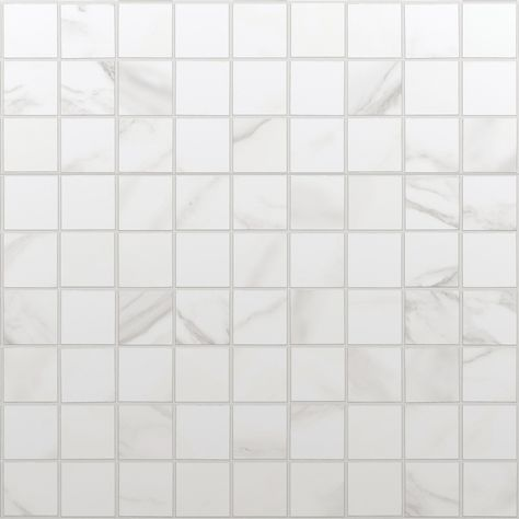 Mosaique Sol Et Mur Murano Blanc Carrare 30 X 30 Cm Carrare Murano Et Sol Et Mur