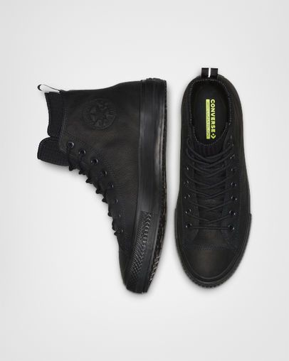 Waterproof leather boots, Leather high
