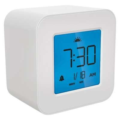 Most Wanted Item Compact Digital Alarm Clock White Capello