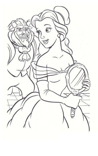 A Bela E A Fera Desenhos Para Pintar Colorir Ou Imprimir Moldes E Riscos A Bela E A Fera Paginas Para Colorir Da Disney Desenho Da Bela Paginas Para Colorir