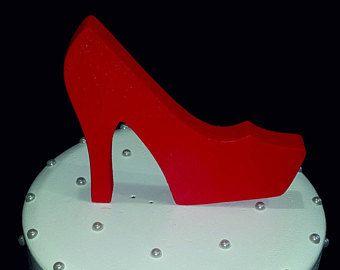 3ef60053699ea Red high heel shoe centerpiece,styrofoam shoe,cut out Stiletto,DIY ...