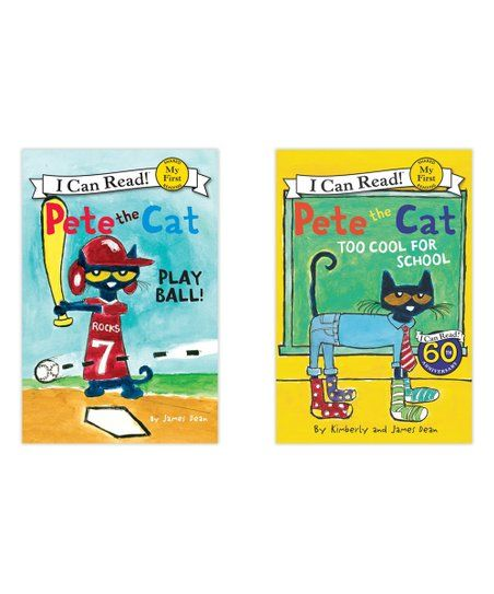 Harpercollins Pete The Cat Play Ball Reader Set Zulily Pete The Cat Play Ball Cat Playing
