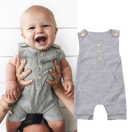 Newborn Baby Boy Girl Outfit Clothes Romper Tops Jumpsuit Shorts Pants One-Piece