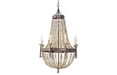 12 Light Wood Iron Chandelier Vintage Lighting Vintage