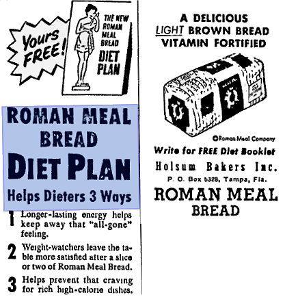 roman meal bread diet plan