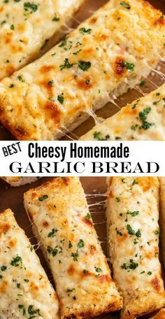 Make this super easy homemade Garlic Bread spread in just minutes! It's got two … Make this super easy homemade Garlic Bread spread in just minutes! It's got two kinds of cheese and a secret ingredient that puts it above any other garlic bread recipe! Cheesy Garlic Breadsticks Recipe, Homemade Garlic Bread, Garlic Cheese Bread, Easy Garlic Bread, Easy Bread, Italian Cheese Bread, Breadstick Recipe, Best Cheesy Bread Recipe, Simple Garlic Bread Recipe