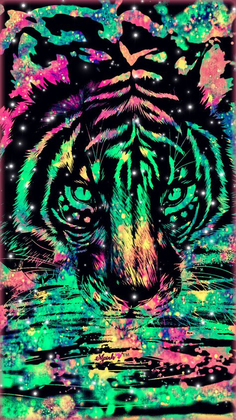 Tiger Galaxy Wallpaper #androidwallpaper #iphonewallpaper #wallpaper #galaxy #sparkle #glitter #lockscreen #pretty #pink #cute #animal #girly #colorful #tribal #tiger #stars