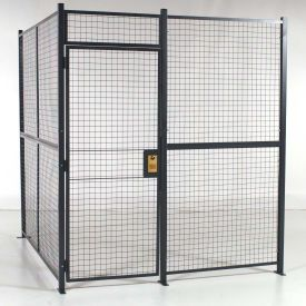 Rapidwire Welded Wire 2 Sided Cage W 3 Hinged Door No Ceiling 8 4 X 8 6 X 8 5 1 4 H Security Room Partition Design Wire Mesh