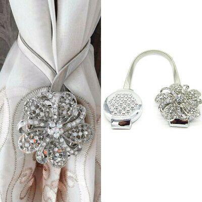 1pair Magnetic Curtain Tiebacks Crystal Tie Backs Buckle Clips