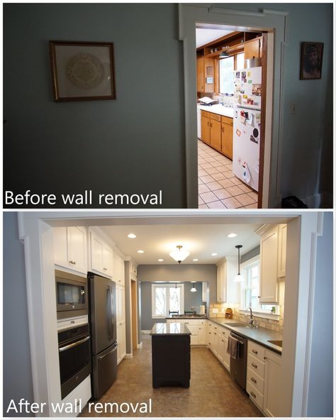 Look At What The Removal Of A Wall Can Do To Give You And Your Family More Open Space Clazak Kitc Kitchens Bathrooms Kitchen Bathroom Remodel Service Kitchen
